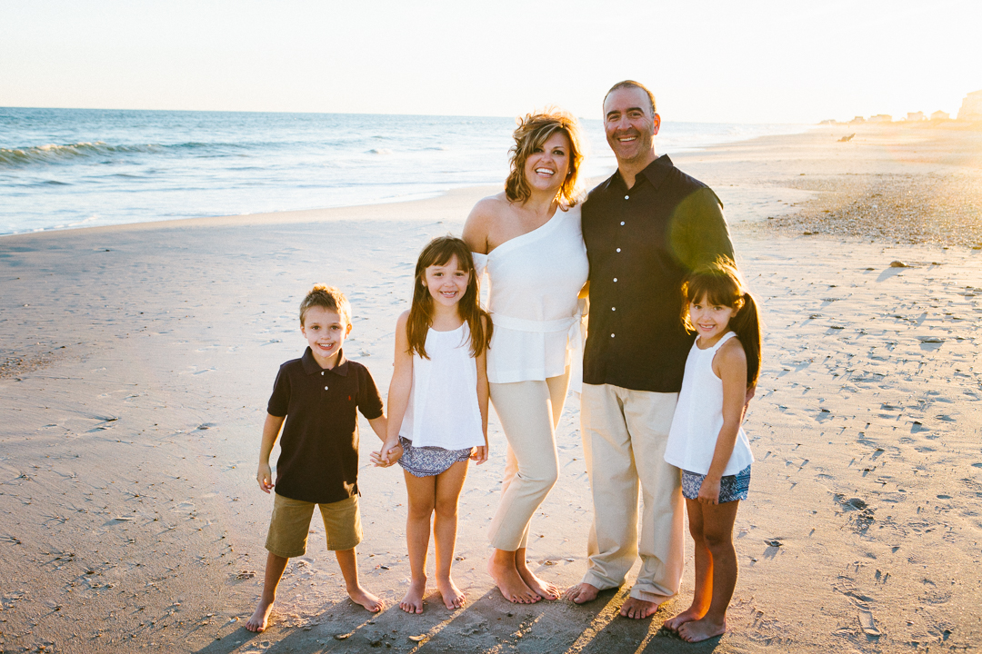 Best Topsail Beach family portrait photographer North Carolina