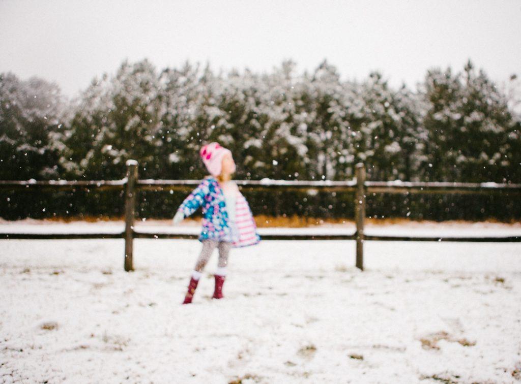 Capturing the moment {snow in coastal north carolina}