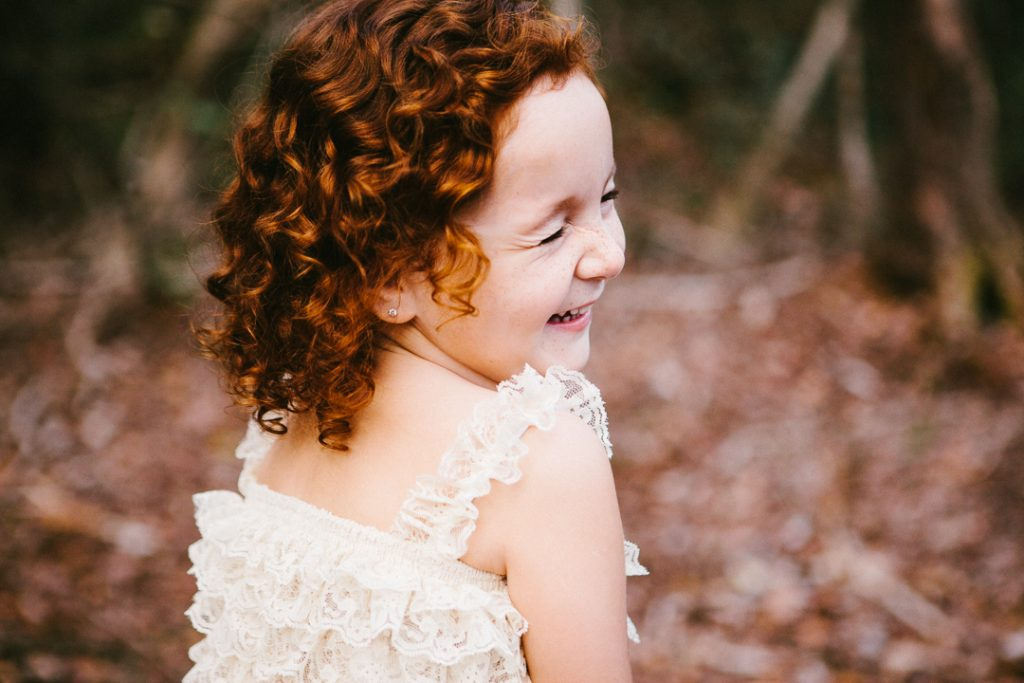 a forest fairy with curly red hair! {childhood portraits in topsail beach}