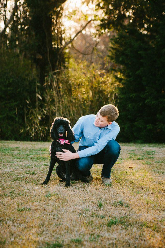 golden light, family pet and a graduate {sneads ferry, north carolina}